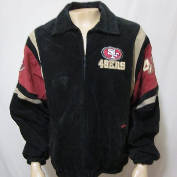 online store 32ab9 95c07 NFL San Francisco 49ers Varsity Suede Jacket